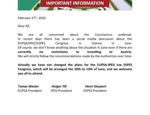 VIENNA Congress 2020 – important notice
